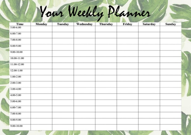 your-weekly-planner